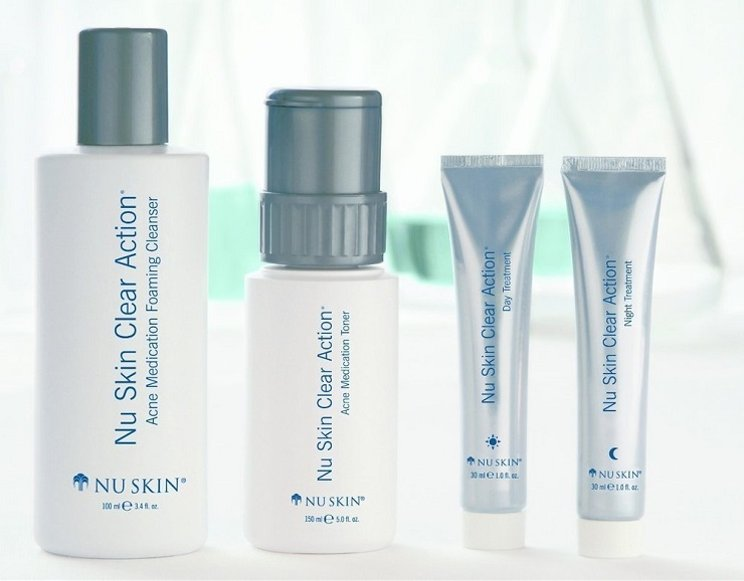 Clear Action Nu Skin, Foam, Toner + Day & Night Treatment